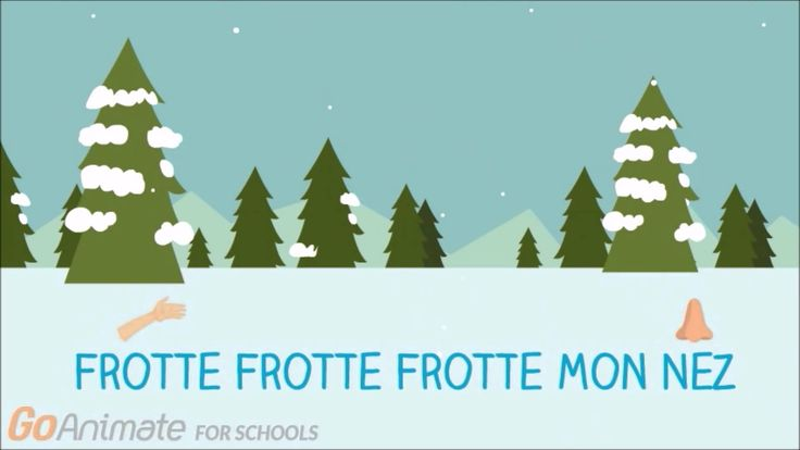 "Simple lyric video with some helpful graphics for the song ""la neige tombe sur mon nez"" For classroom use"
