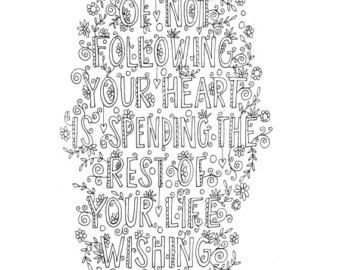Serenity Prayer Quote coloring page INSTANT by mollymattin on Etsy