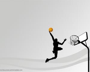 Esta es una plantilla de PowerPoint con fondo de Basketball