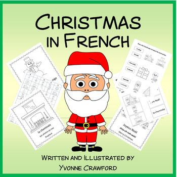 Christmas in French is a booklet that focuses on the names of Christmas Words in French.Included - two versions of each of these full-color and black and white: 10 full color pages of Christmas vocabulary with a pronunciation guide for your students2 worksheets to reinforce the vocabulary words4 copywork pages (manuscript and cursive)1 bingo game with 31 unique bingo cards1 matching game1 completion certificateAll artwork is original and created by myself.This product is also included in…