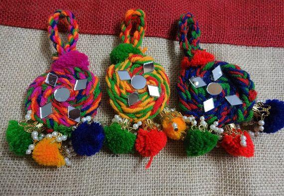 Handmade Mirror Tassels Woolen Tassels Camel Swag BOHO