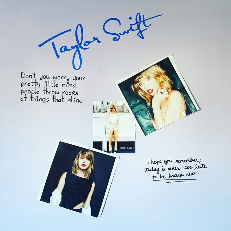 Did this for my sweet girls wall!  She is the biggest taylor swift fan lol