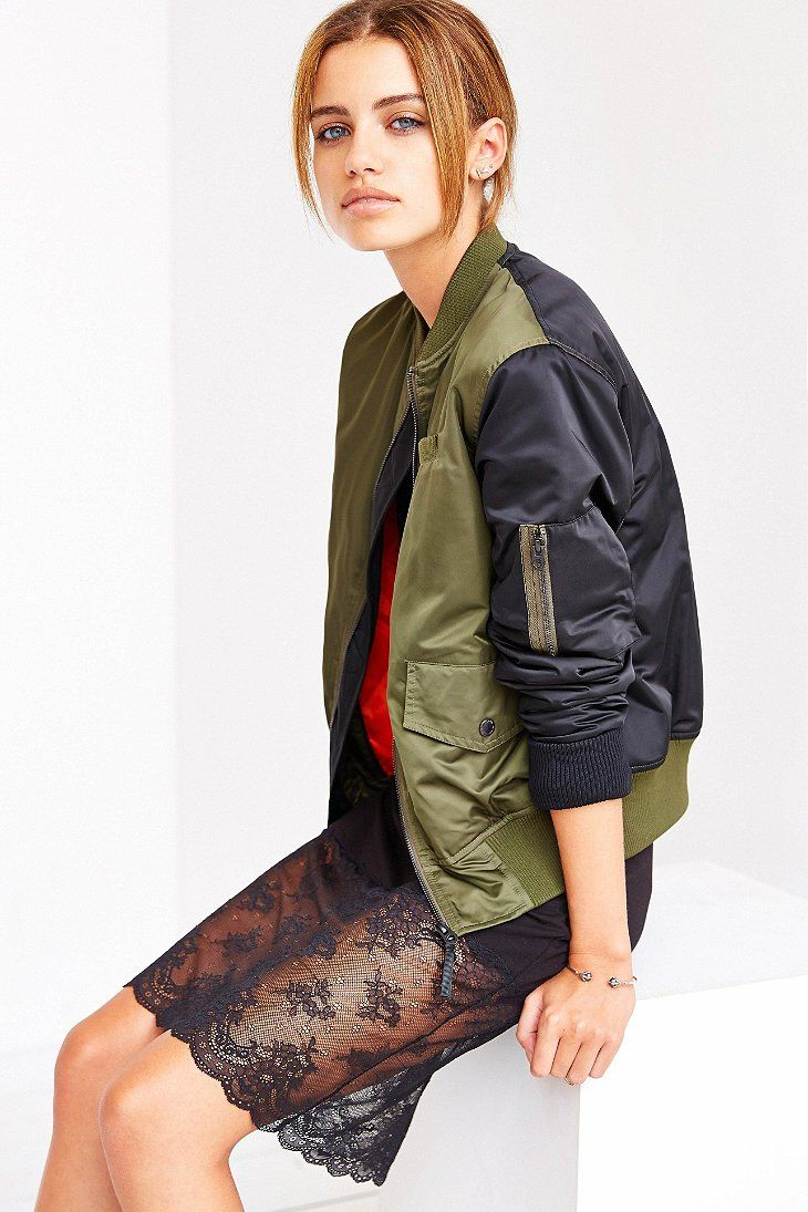 Members Only Shrunken MA-1 Bomber Jacket - Urban Outfitters