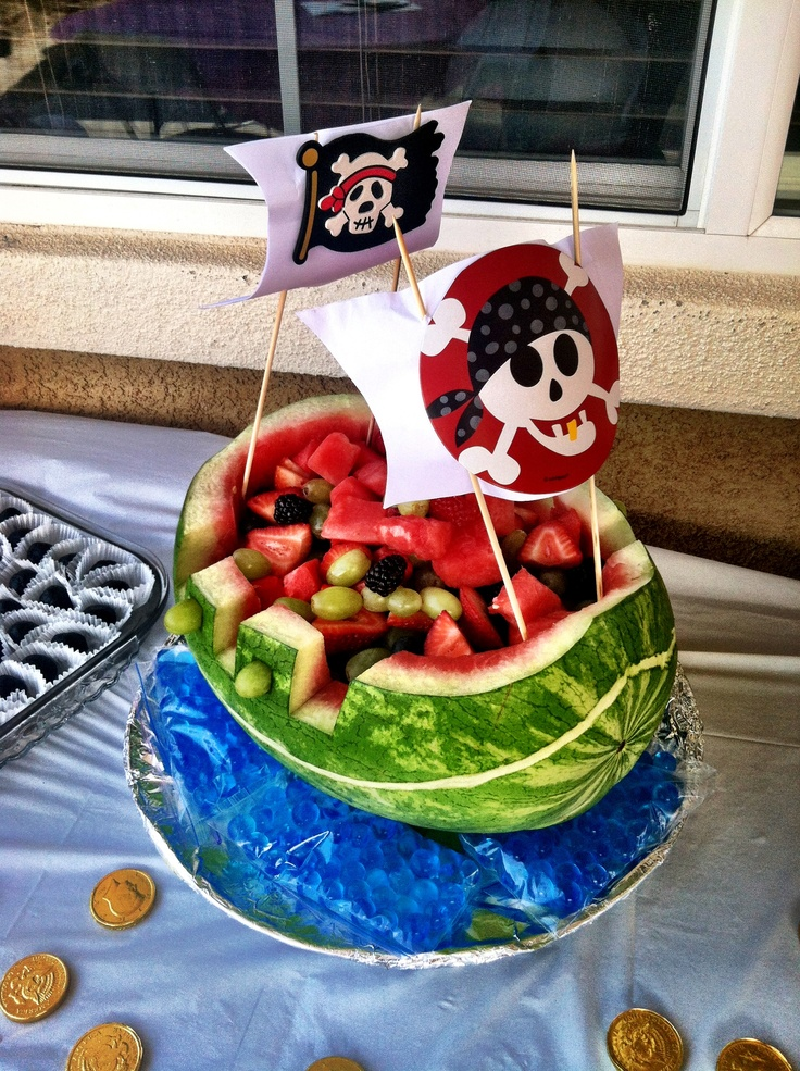 watermelon pirate ship carving instructions