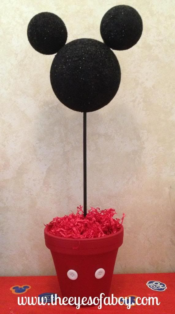 Simple Mouse Halloween Costume: The Eyes Of A Boy: Mickey Mouse Topiary Centerpiece