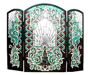 leaded glass fireplace screens. Amazing  Light whimsical and tones of Art Deco Leaded GlassStained GlassFireplace ScreensMosaic 25 best Stained Glass Spark Fireplace Screens images on Pinterest