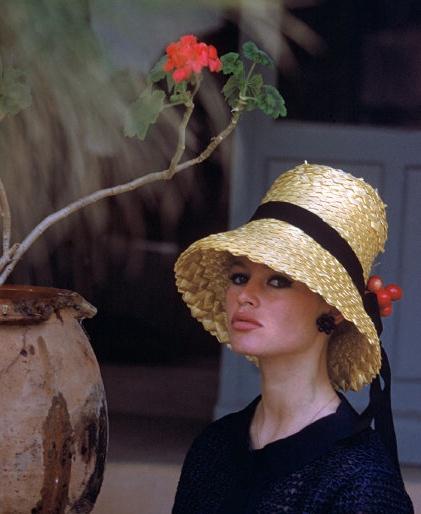 Brigitte ;Bardot  French Actress  LOVe the hat!