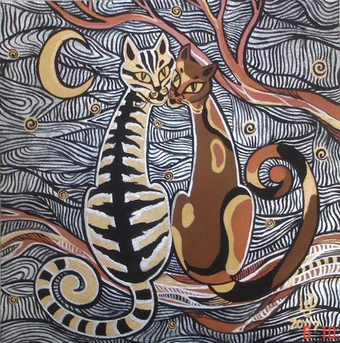 коты на крыше рисунок - Поиск в Google