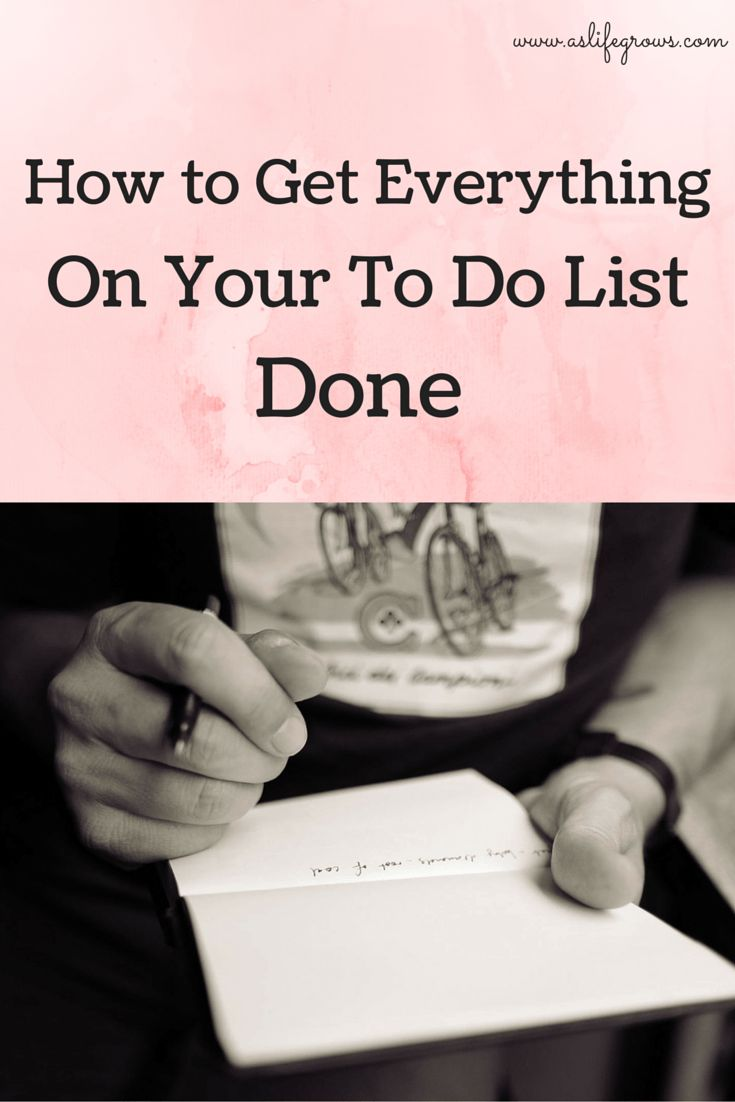 how to get everything done time management program