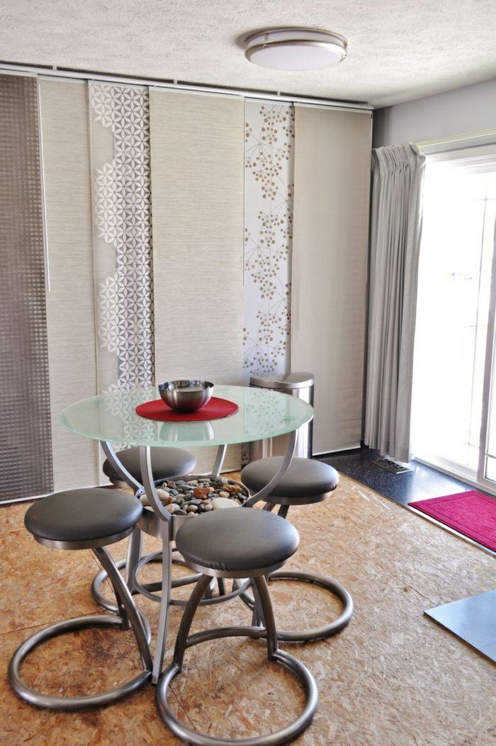 Die besten 25+ Flächenvorhänge Ideen auf Pinterest Pottery barn - schiebegardinen kurz wohnzimmer