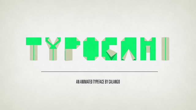 Typogami by Jeroen Krielaars. Typogami is an animated typeface for Adobe After Effects CS3, 4 & 5.