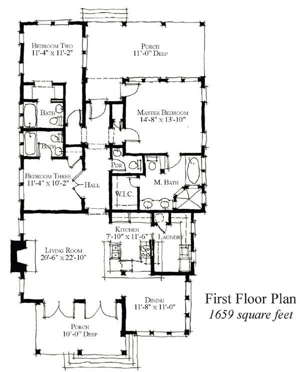 31 best reverse living house plans images on pinterest - Triplex house plans cost cutting living ...