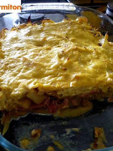 Gratin de chou blanc au curry - Recette de cuisine Marmiton : une recette