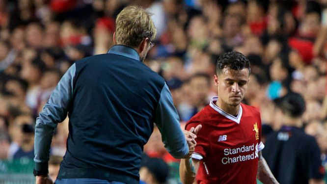 Liverpool face a Merseyside derby in the FA Cup on Friday, but the German boss believes his players will not be focused on matters away from the pitch, despite news that Barcelona are nearing a record transfer for the Brazilian.  www.infiniwin.net