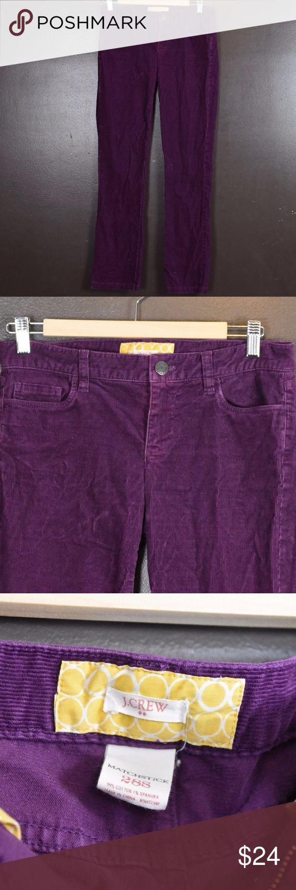 Women's J. Crew Matchstick Cords, Size 28S Women's J. Crew Factory Matchstick Cords, Size 28S J. Crew Factory Pants Skinny
