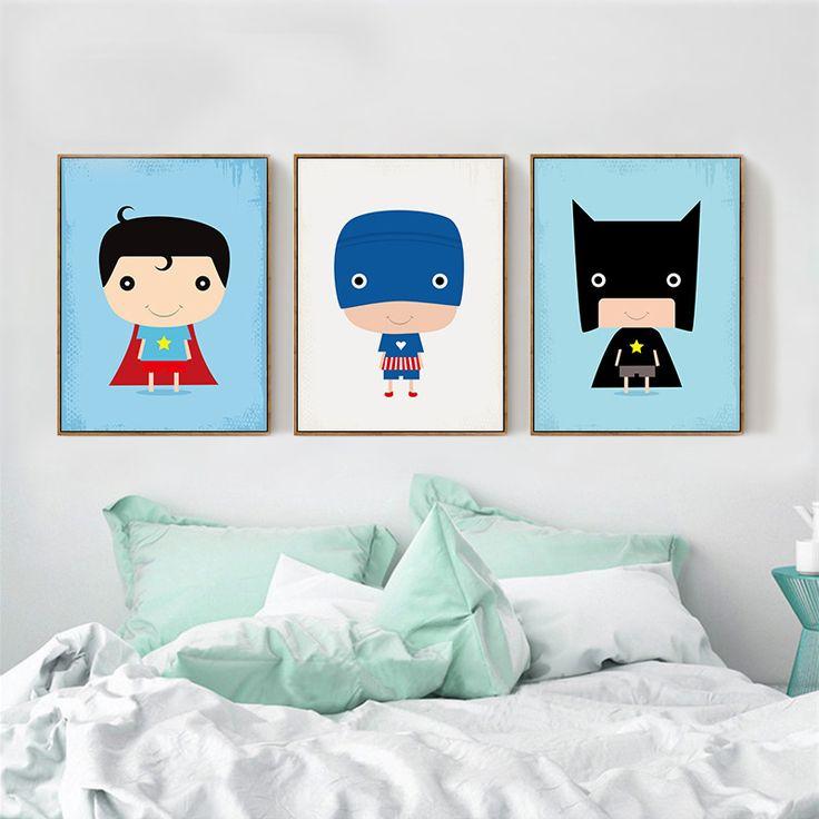 17 best ideas about superhero canvas on pinterest