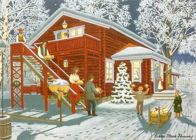 Julkort. Erkers Marie Persson.
