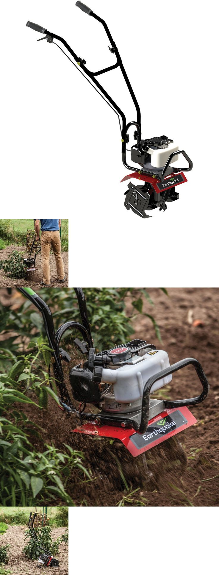 Tillers 29519: Earthquake Gas Garden Tiller Mc25 Mini Cultivator With 25Cc 2-Cycle Viper Engine -> BUY IT NOW ONLY: $218.88 on eBay!
