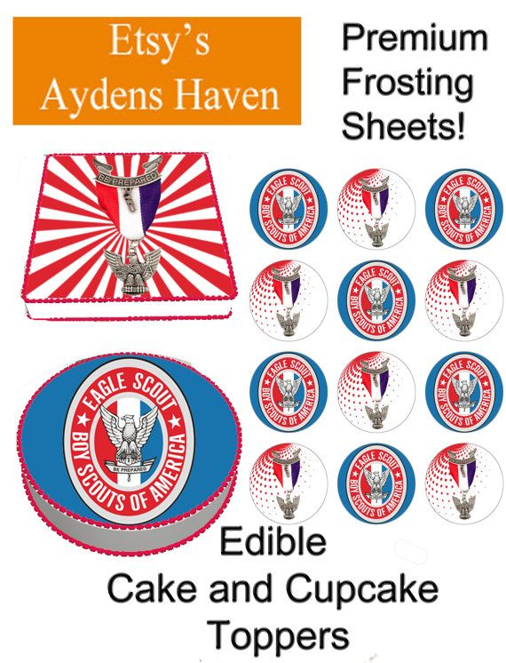 Boy Scouts of America Edible Cake Toppers by AydensHaven ...