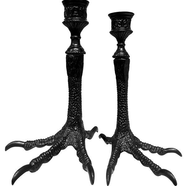 Harpy foot candlestick