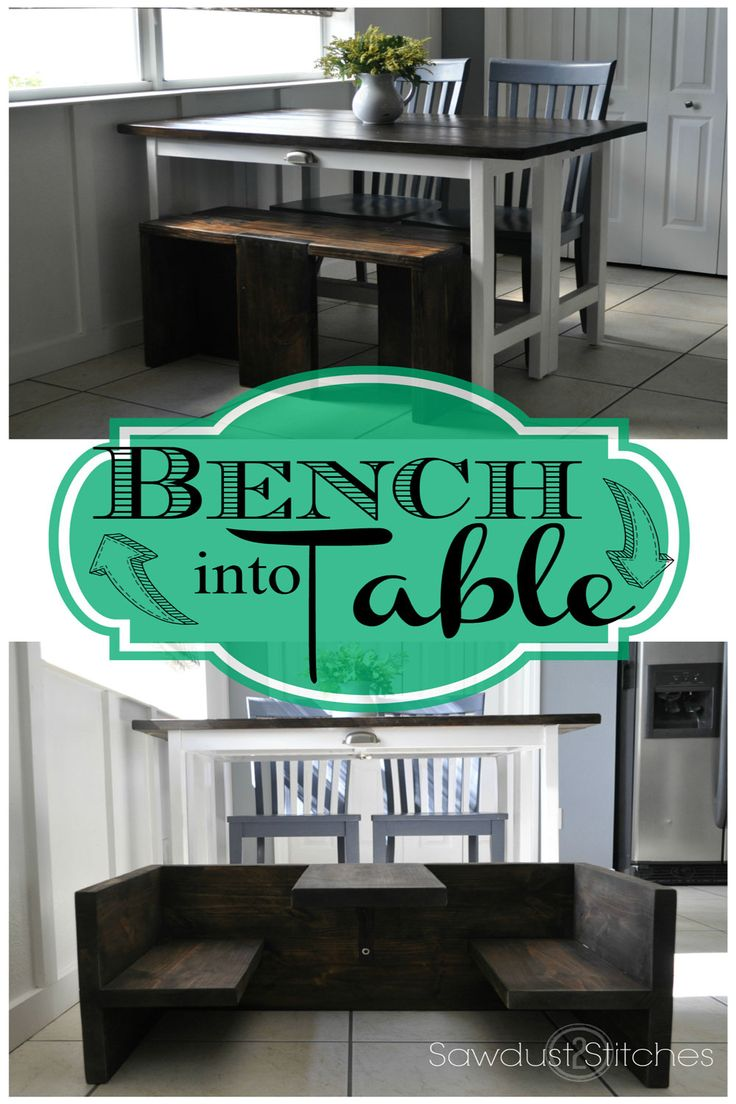 Ana White   Build a Bench that Converts to Toddler Table   Free and Easy DIY Project and Furniture Plans