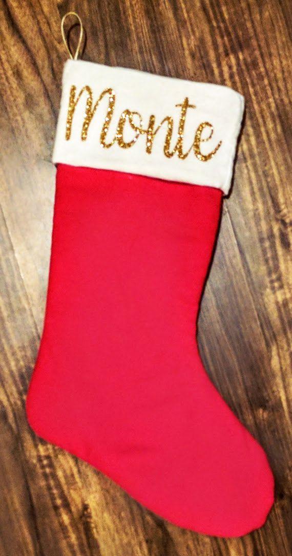 Custom Christmas Stocking, personalized christmas stockings, etsy christmas stockings, christmas stockings sale, christmas stockings canada by KittyandSpunky on Etsy