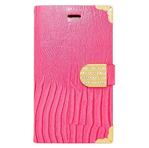 Pink Diamond  Rhinestone Flip Leather Case Cover For Samsung Galaxy Note Edge #UnbrandedGeneric
