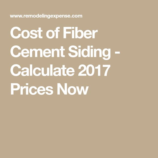 Cost of Fiber Cement Siding - Calculate 2017 Prices Now
