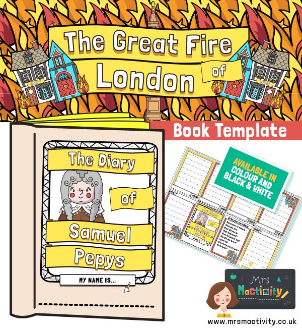 Great Fire of London Samuel Pepys Diary Template Great