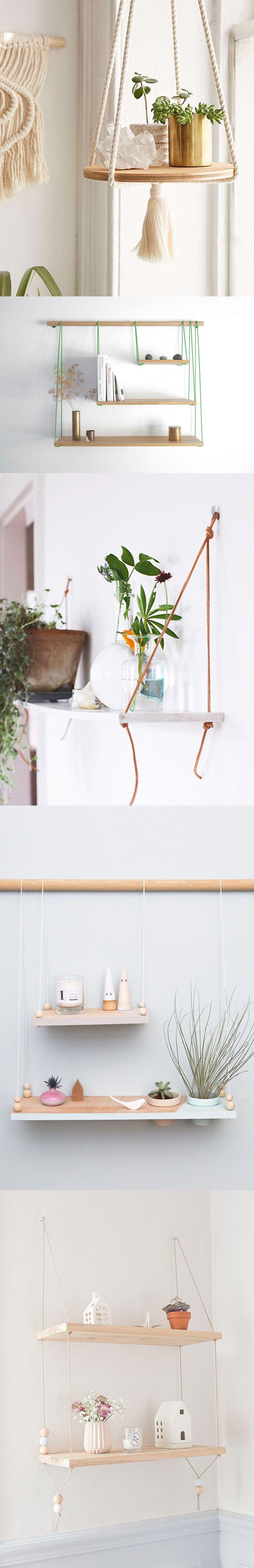 Confira as fotos e as dicas de como fazer Prateleiras com Corda para guardar objetos ou enfeitar a casa, trazendo um ar romântico e moderninho!