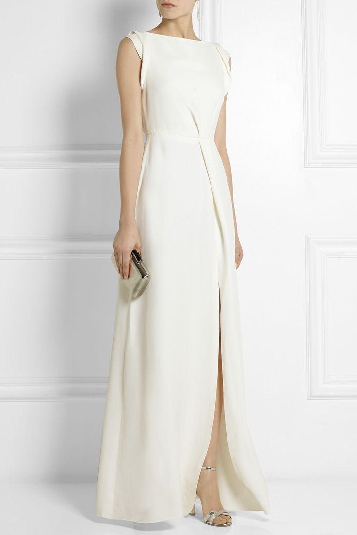 Victoria Beckham|Crepe gown|NET-A-PORTER.COM