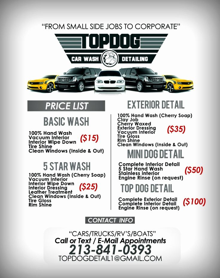 Car detail flyer template free luxury templates car