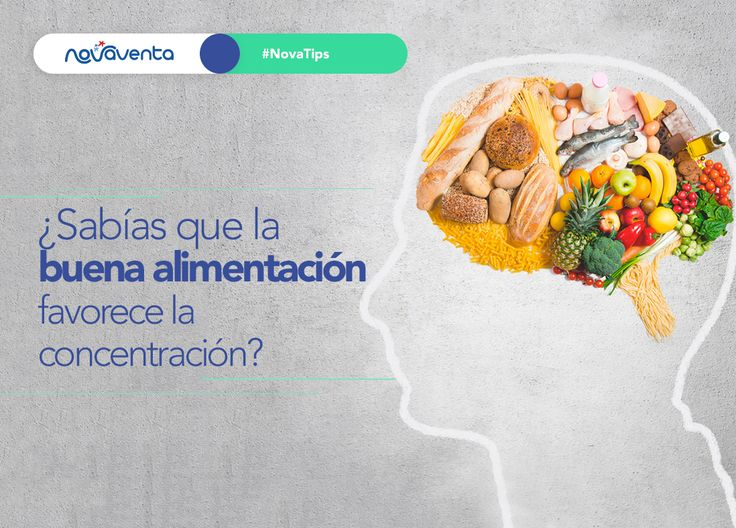 Cuida tu alimentación porque de ella dependerán muchos aspectos de tu vida, por ejemplo la buena concentración.