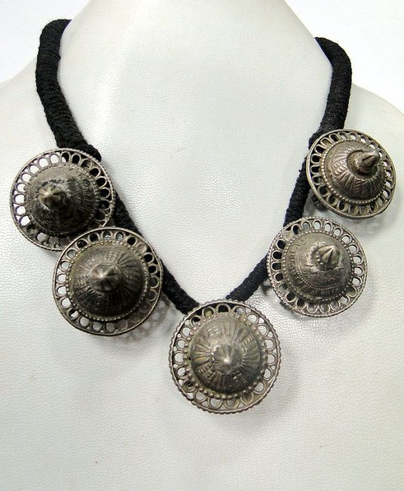 vintage ethnic tribal old silver spiky bead by TRIBALEXPORT, $270.00
