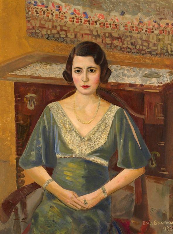 Lady in a Green Dress, 1933 by Boris Grigoriev (Russian, 1886 - 1939)