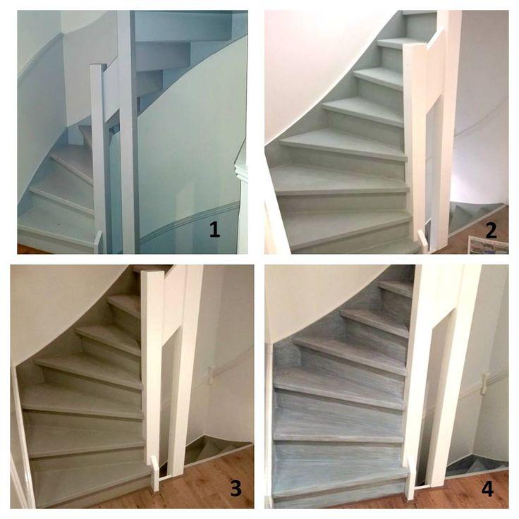 annie sloan chalk paint op trappen