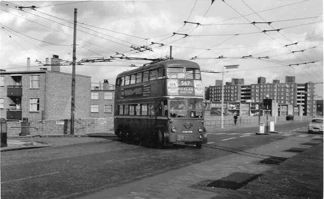 Corner of East India Dock Road and Aberfeldy Street 1954