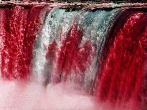 Canada Flag @ Niagra Falls in honour of Canada Day!