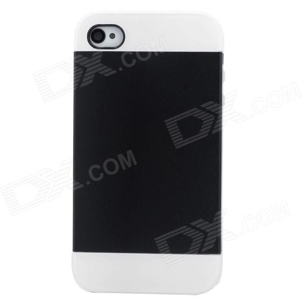 Brand: NX CASE; Quantity: 1 Piece; Color: Black + white; Material: Silicone; Compatible Models: Iphone 4 / 4S; Other Features: Protects your device from scratches dust and shock; Packing List: 1 x Protective case; http://j.mp/1leU0Bu