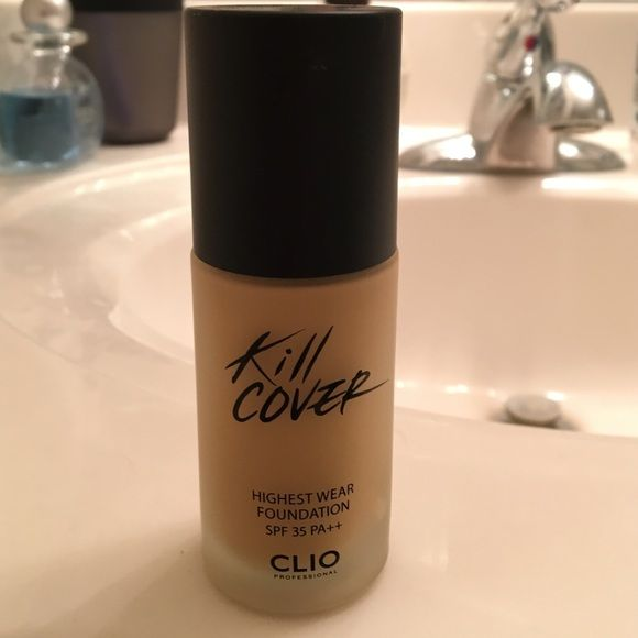 Kill cover foundation Korean makeup brand kill cover foundation. Used once. Still has over 95% of product. Color ginger. Kill cover Makeup Foundation