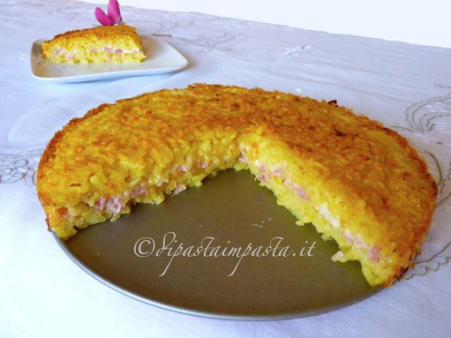 Di pasta impasta: Risotto giallo gratinato alla mozzarella