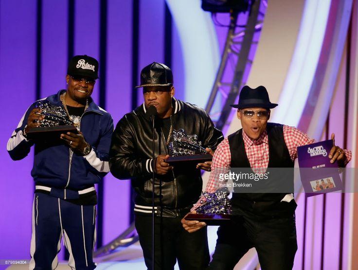 Ronnie DeVoe, Michael Bivins, and Ricky Bell of Bell Biv DeVoe accept the Soul Train Certified Award onstage at the 2017 Soul Train Awards, presented by BET, at the Orleans Arena on November 5, 2017 in Las Vegas, Nevada.