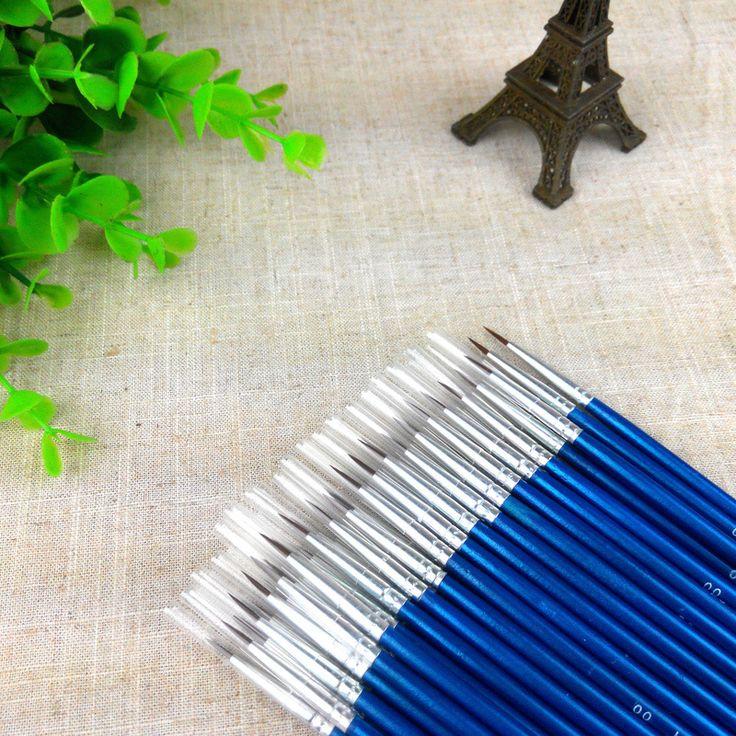 Hot Sale Tiny Liner Acrylic Nail Art Tips Design Pen Painting Drawing Brush Set Diy Drop Shipping