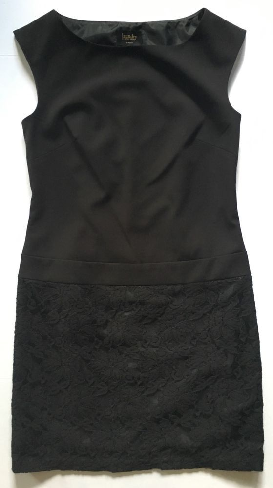 Laundry by Shelli Segal Los Angeles Black Sleeveless Dress-Womens-Sz 4 #LaundrybyShelliSegal