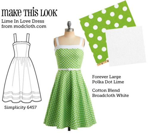 (via MTL: Lime in Love Dress - The Sew Weekly Sewing Blog & Vintage Fashion Community)