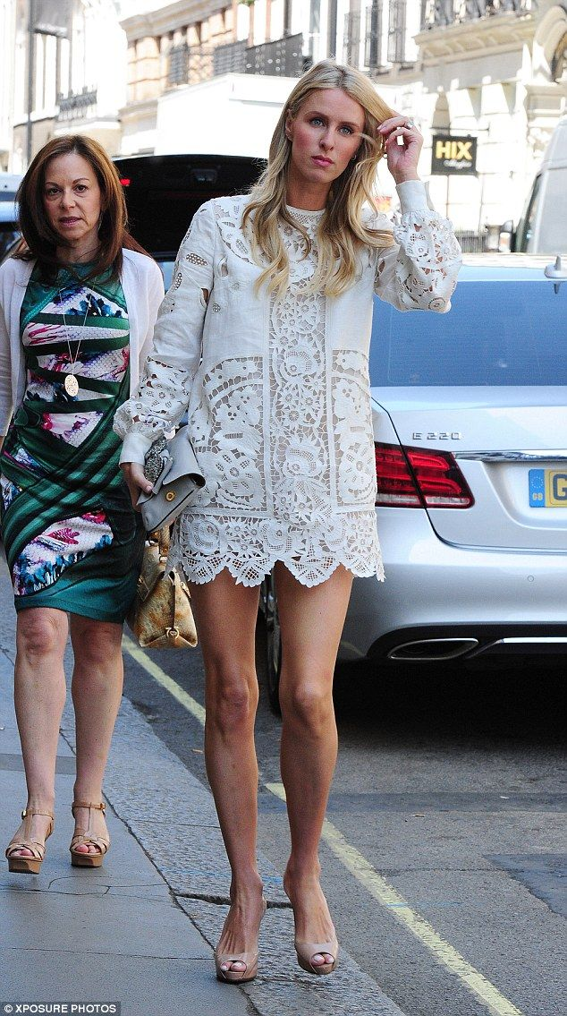 Nicky Hilton puts on a leggy display hours before her wedding day #dailymail