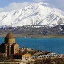 Armenian Church and Lake Van Kurdistan - Turkey | #Photography #Places #Travel #Turkey #Lakes #VanKurdistan |