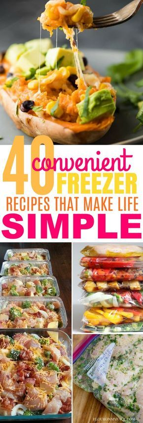 These 40 Freezer Recipes Are Such a Quick & Convenient way to Meal Prep!