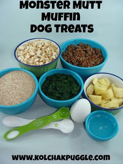 Tasty Tuesday: Monster Mutt Muffin Dog Treats - Kol's Notes
