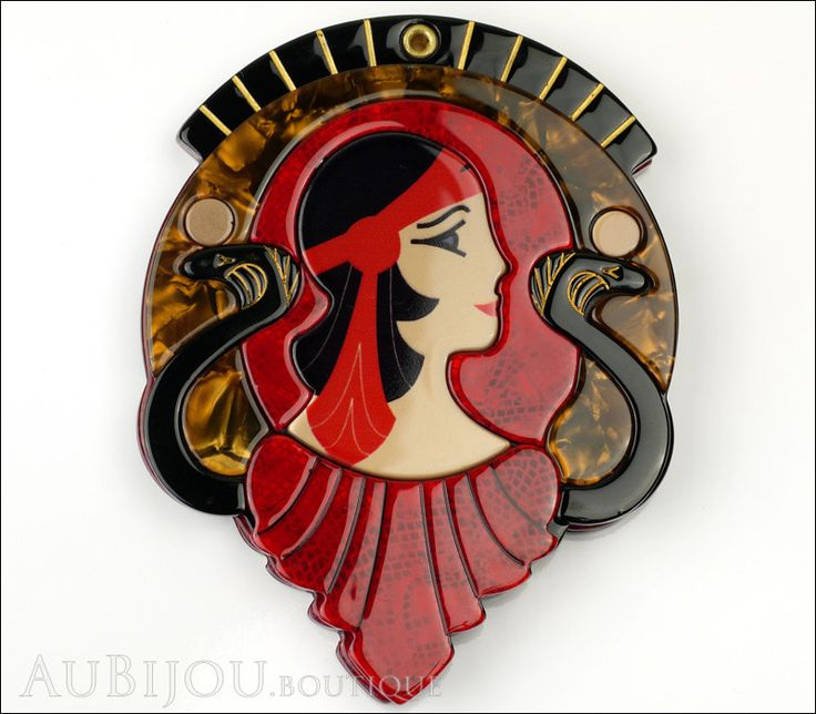 Erstwilder Cleopatra Compact Mirror Deco Egyptian Red
